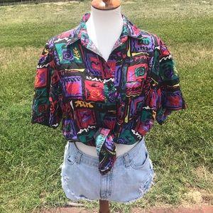 Vintage Button Up Shirt Size M